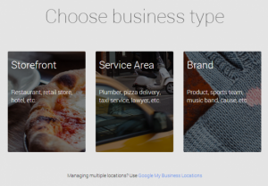 Choose business Type